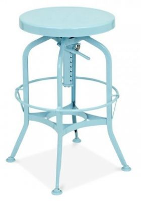 Toledo Industrial Stool In A Light Blue Finish 2