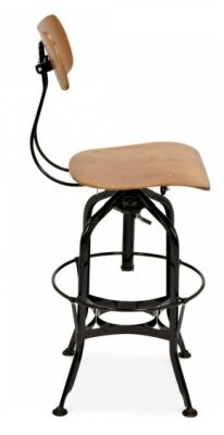 Toledo High Stool In Black Side View