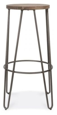 Hairpin Stool Black Frame