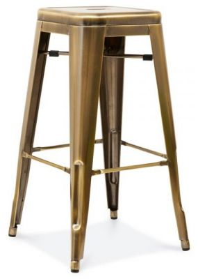 Tollix V3 Stool In Antique Brass
