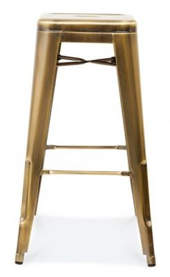 Tollix V3 Stool Antique Brass Side View