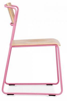 Tram Chair Pink Frame Side Shot