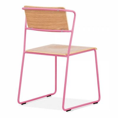 Tram Chair Pink Frame Rear Angle