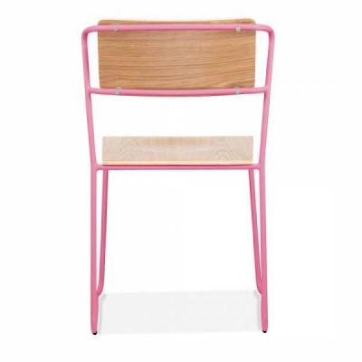 Tram Chair Pink Frame Rear Shot