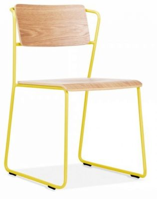 Tram Chair Yellow Frame Front Angle