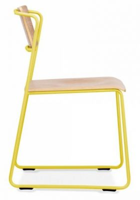 Tram Chair Yellow Frame Side View