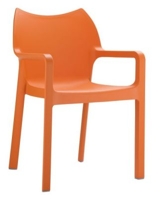 Theo Poly Orange Armchair