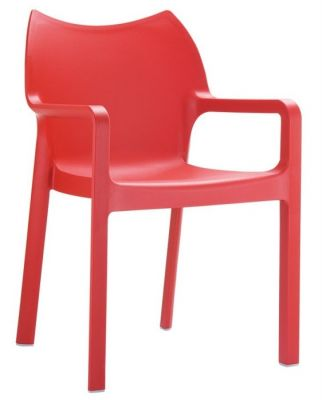 Theo Red Poly Armchair