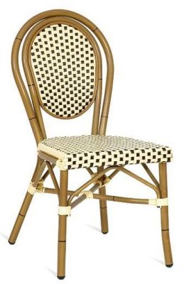 Formaose Outdoor Weave Chair In Brown And Cream