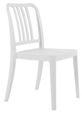 Navy Poly Chair In Atrtic White