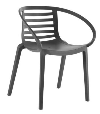 Lyca Outdoor Polyarmchair In Anthracite