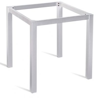 DExel Outdoor Square Table Base In Silver
