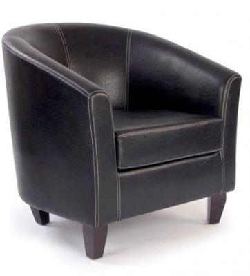 Aztec Brown Leathdr Tub Chair
