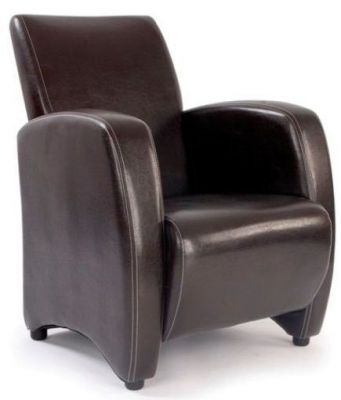 Melba Brown Leather Armchair