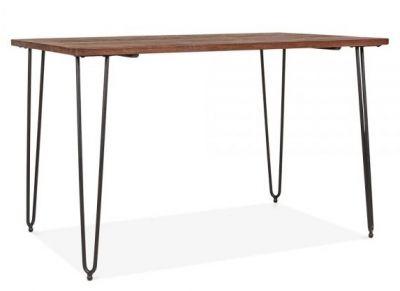 Hairpin Rectangular Table Black Legs 1