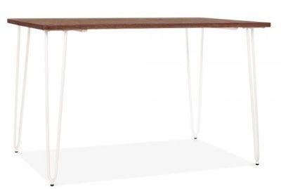 Hairpin Rectangular Table White 1