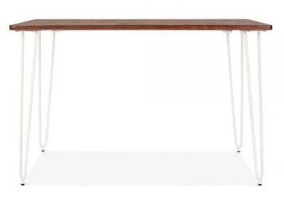 Hairpin Rectangular Table White Frame 2