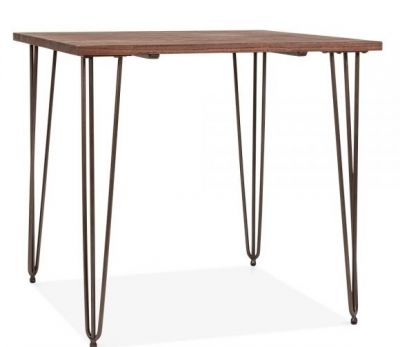 Hairpin Square Table Raw Finish