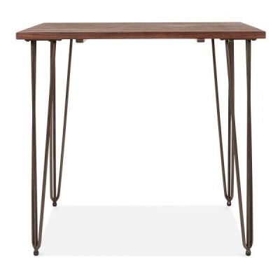 Hairpin Square Table Raw Finish 2