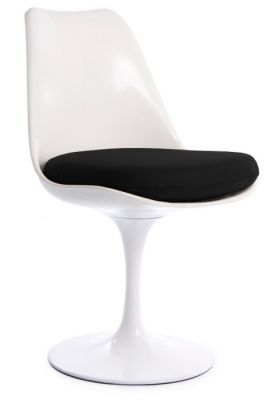 Tulip Chair Black Cushion Black Fabriv