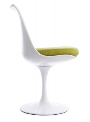 Tulip Chair With A Green Seat Side View