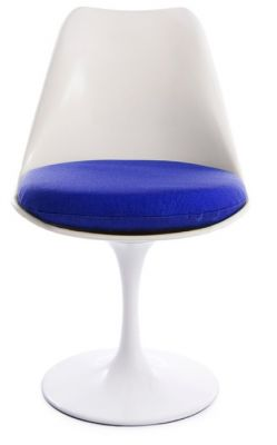 Tulip Chair With A Blue Seat Front Shot