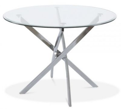 Claudia Round Glass Table
