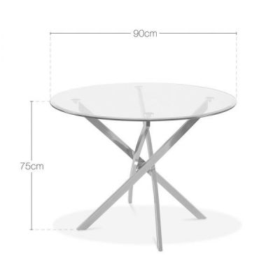Claudia Glass Table Dims