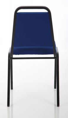 Polo Banqueting Chair In Blue Rear View