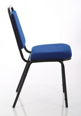 Polo Banqueting Chair In Blue Side View