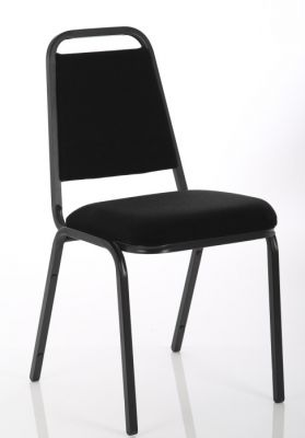 Polo Banqueting Chair In Black Front Angle