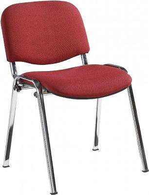 Stakka Conference Chair Burgundy Fabric