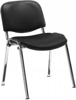 Stakka Chair Black Vinyl Chrome Frame