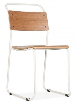 Bauhaus Chair With A White Frame Angle View