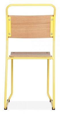 Bauhaus Industrial Chair Yellow Frame Rear View