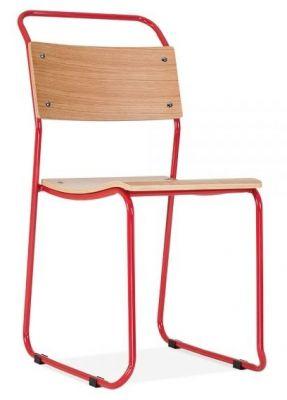 Bauhaus Industrial Chair Red Frame