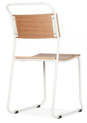 Bahuhaus Chair With A White Frame Rear Angle