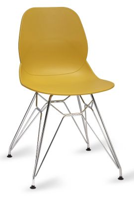 Mylo V5 Chair With A Pyramid Frame Mustard