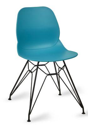Mylo V6 Pyramid Chair Turquoise Shall Black Frame