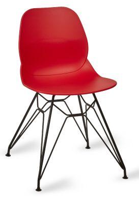 Mylo V6 Pyramid Chair Red Shell Black Frame