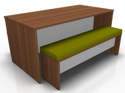 Avalon Prime Dining Set Win Walnut With Green Seat Pad
