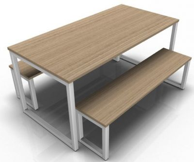Avalon Loop Dining Set In Oak With A Silver Frame