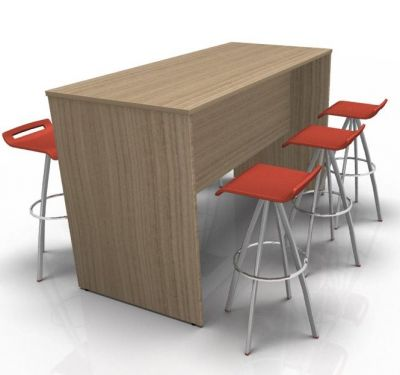 Avalon Prime 700mm Deep Poseur Table In Cherry