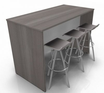 Avalon Prime Poseur Table In Anthracite 600mm Deep
