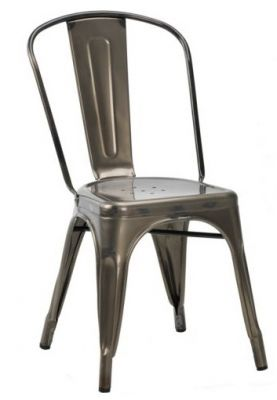 Tollix V2 Side Chair In Gun Metal