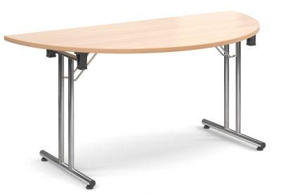 Thorex Half Moon Folding Table With A Beech Top