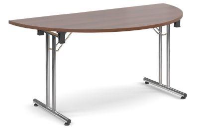 Thorex Half Moon Table With A Walnut Top