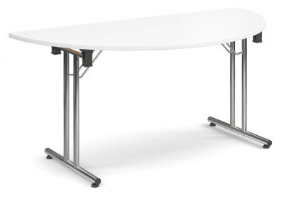 Thorex Half Moon Folding Table With A White Top