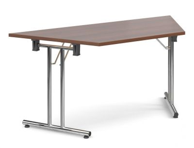 Thorex Trapezoidal Folding Table With A Walnut Top