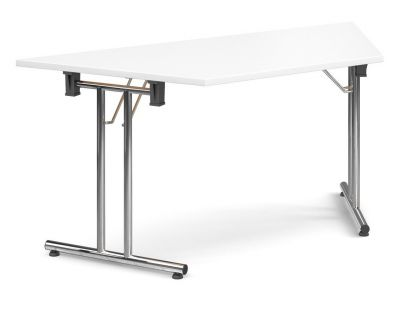 Thorex Trapezoidal Folding Table With A White Top